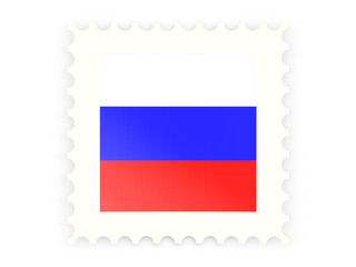 Postage stamp icon of russia