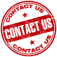 contact us rubber stamp