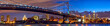 canvas print picture - Philadelphia skyline panorama at dusk, US