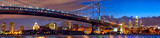 Philadelphia skyline panorama at dusk, US