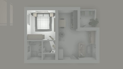 Illuminated apartment