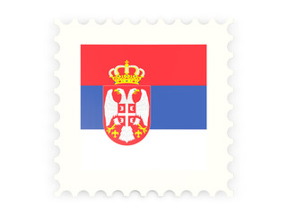 Postage stamp icon of serbia
