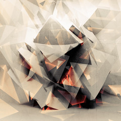 Abstract colorful digital 3d polygonal background