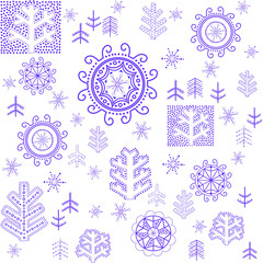 Winter wallpaper with stylized snowflake