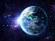 planet in cosmos - Usa view - Usa
