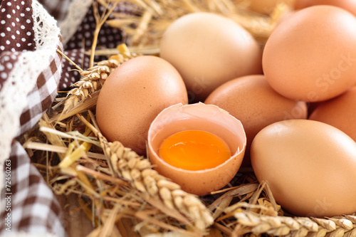 Staande foto Egg Farmers eggs.