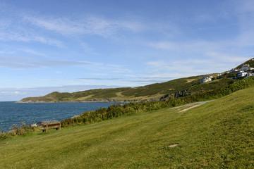 coastline at Woolacombe bay, Devon