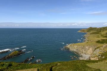 rocky coastline at Woolacombe bay, Devon