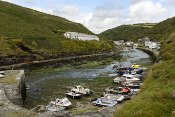 harbour view at low tide, Boscastle, Cornwall