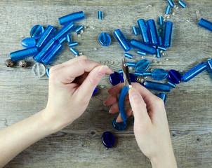 Woman Jewellery Making