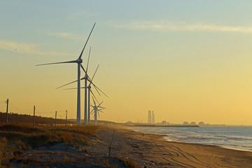 海岸の風車