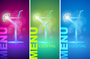 Cocktail party design menu background