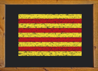 The flag of the autonomous community of Catalonia