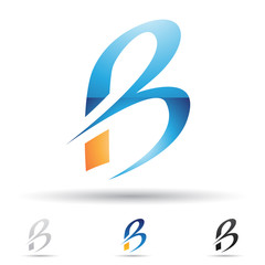 Abstract icon for letter B