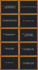 The Ten Commandments of the Catholic Church