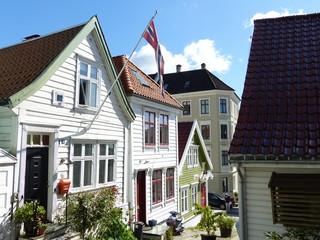 Maison typique en bois à Bergen Norvège