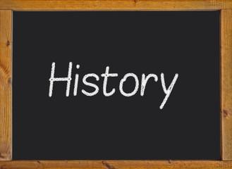 History written on a blackboard
