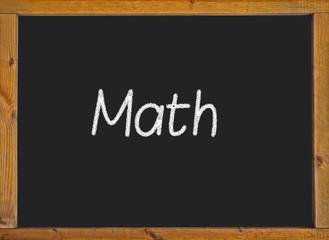 Math written on a blackboard