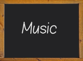Music written on a blackboard