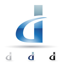 Abstract icon for letter D