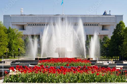 Fountain on Republic Square in Almaty, Kazakhstan - 72454477
