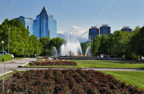 Fountain on Republic Square in Almaty, Kazakhstan - 72454485
