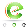 Abstract icon for letter E