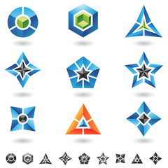 cubes, stars, pyramids