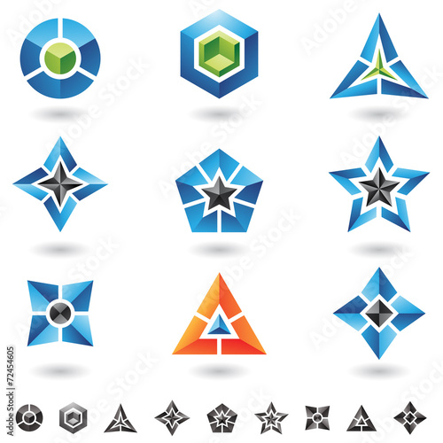 canvas print picture cubes, stars, pyramids
