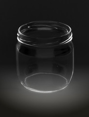 jar on black background
