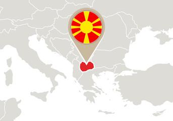 Macedonia on Europe map