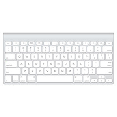vector short aluminium computer keyboard