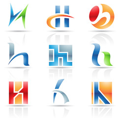 Glossy Icons for letter H