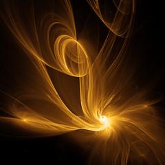 Glühende Flammen im Weltraum