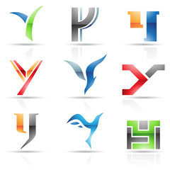Glossy Icons for letter Y