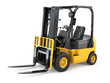 Forklift truck on white isolated background. - 72457276