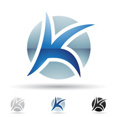 Abstract icon for letter K