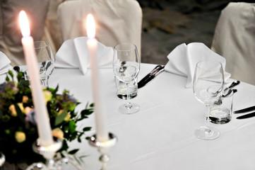 Elegant dinner table