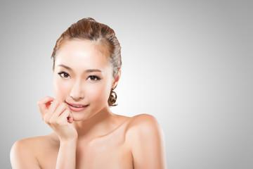Asian beauty face