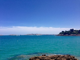 Coast view of Saint Malo France