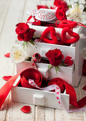various  decorations  for Valentine's Day