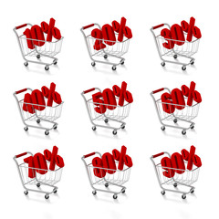 Shopping carts with discount prices