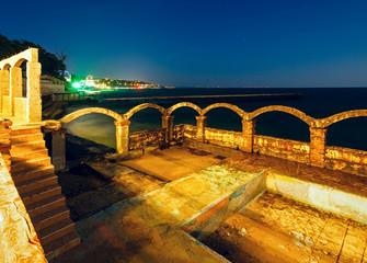 Sea night coast (Bulgaria).