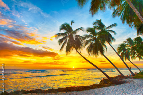 Fotobehang Zonsondergang Barbados