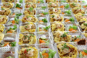 Prepare food  in plastic box