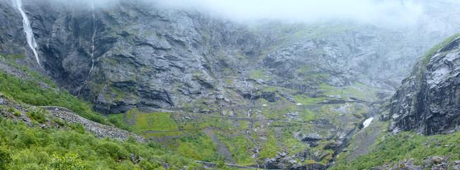 Waterfall on Trollstigen (The troll steps), Norway