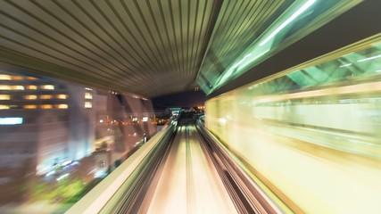 POV time lapse through Tokyo on Yurikamome