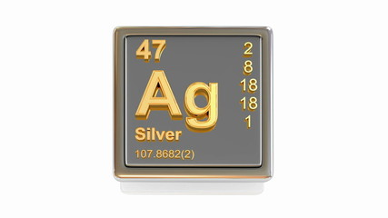 Chemical element. Ag. 3d