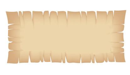 Rectangle Beige Torn Banner
