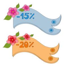 Ribbon Discounts 15% and 20%